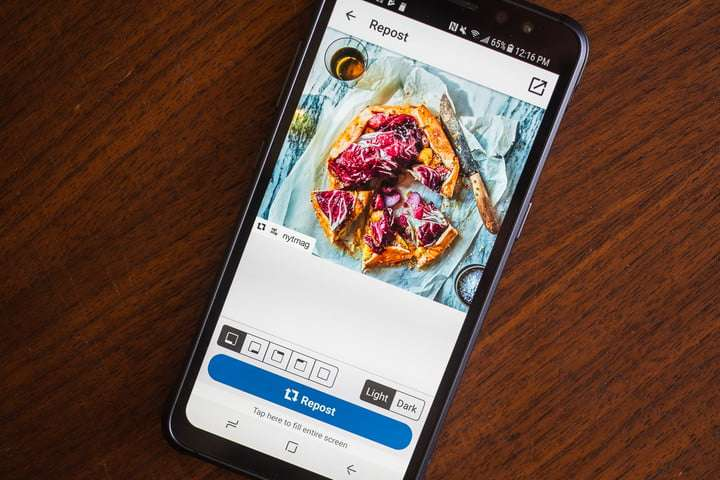 how to repost on instagram instasave screen 4